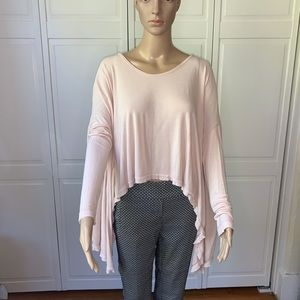 Free People asymmetrical long sleeve top Sz Sm